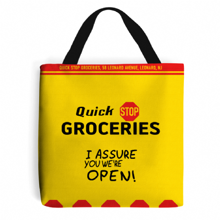 Quick Stop Groceries Tote Shopping Bag Based on Clerks